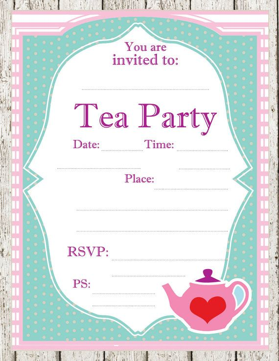 party invitations simple tea party invitations designs elegant – Mad Hatters Tea Party Invitation Template