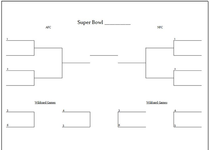 Printable NFL Playoff Brackets Kitty Baby Love