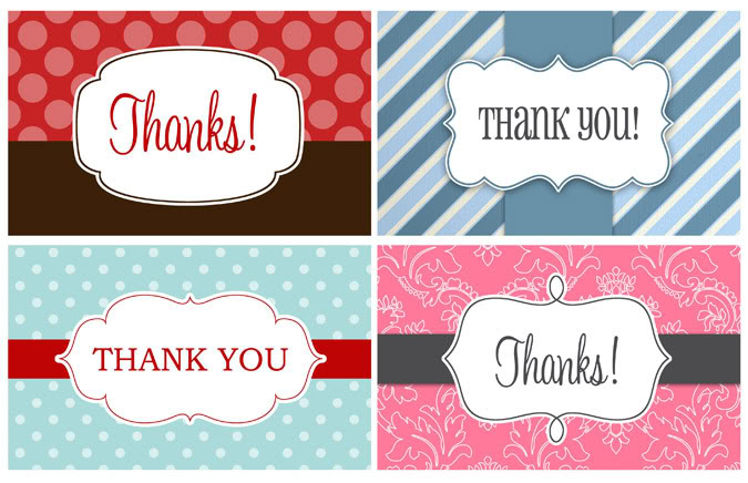 14 Printable Thank You Gift Tags KittyBabyLove