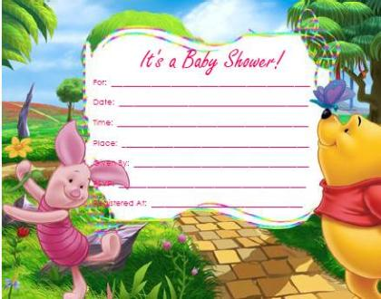 14 Heart-Warming Winnie the Pooh Baby Shower Invitations Kitty