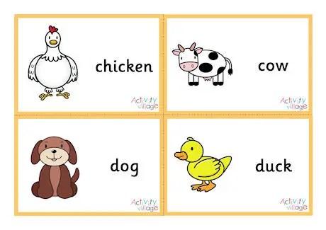 15 Animal Flash Cards Kitty Baby Love