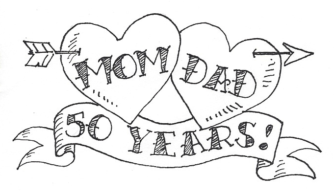 Printable Anniversary Cards For Parents