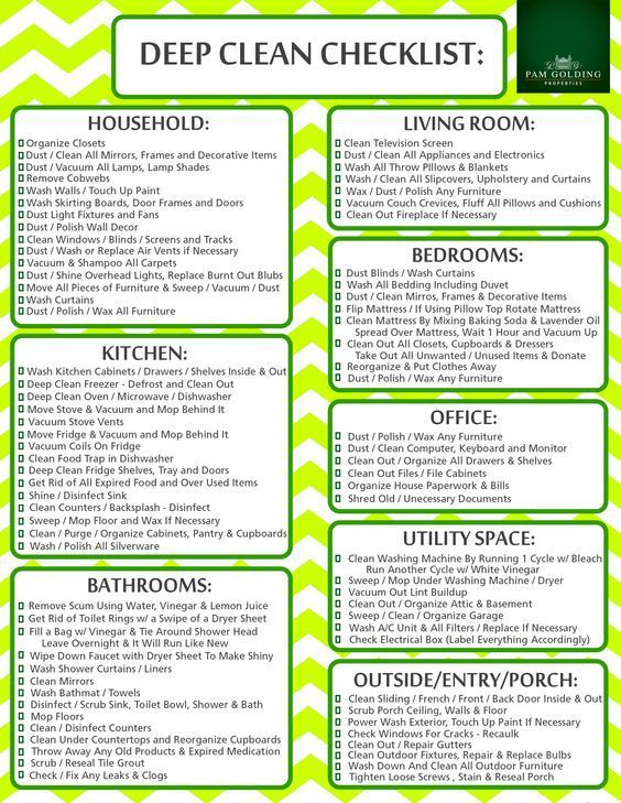 housecleaning checklists - Yelommyphonecompany