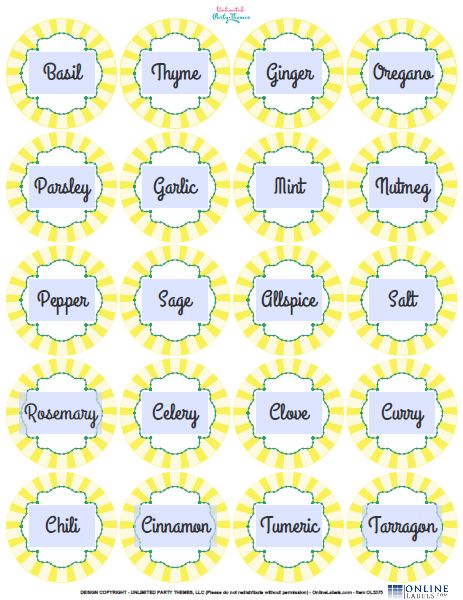 24 Creative Spice Jar Labels Kitty Baby Love