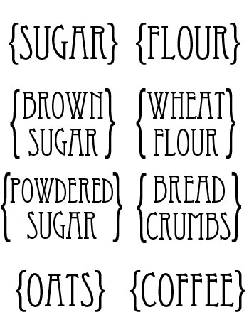 30 Pretty Kitchen or Pantry Labels KittyBabyLove