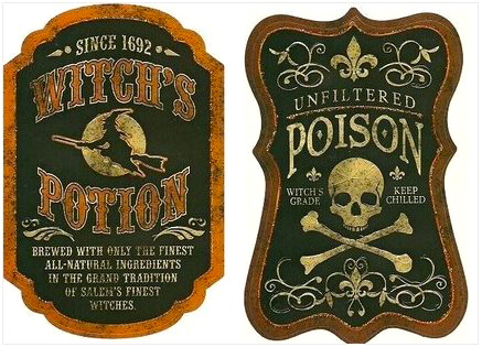 48 Spooky Halloween Labels for You KittyBabyLove