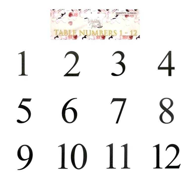 28 Elegant Printable Table Numbers KittyBabyLove