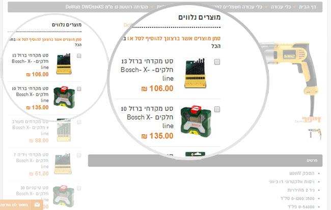 """שיווק באינטרנט ע""""י מוצרים משלימים ומוצרים נלווים"""