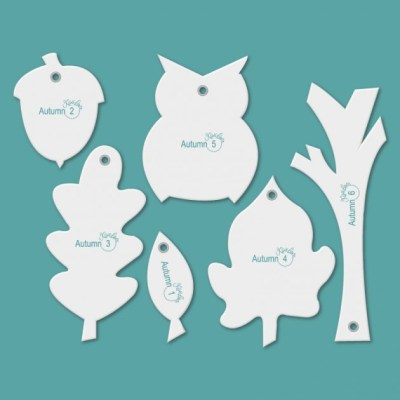Picture of templates contained in the Autumn Accessory Set