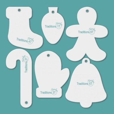 Picture of templates contained in the Tiny Traditions Tiny Accessory Set