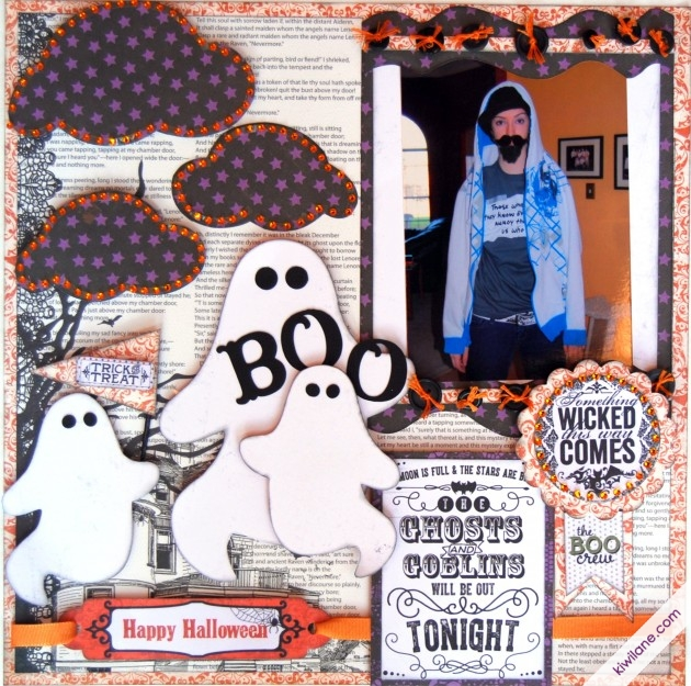 Boo/Halloween 1-page layout
