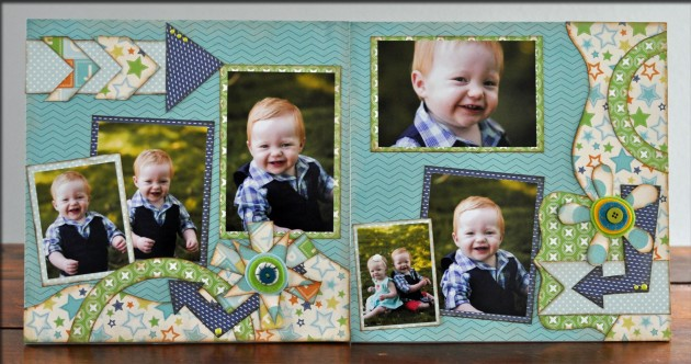 Cute Boy layout featuring Elements set