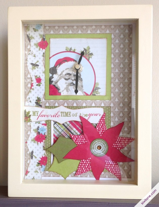 Christmas Shadowbox Clock