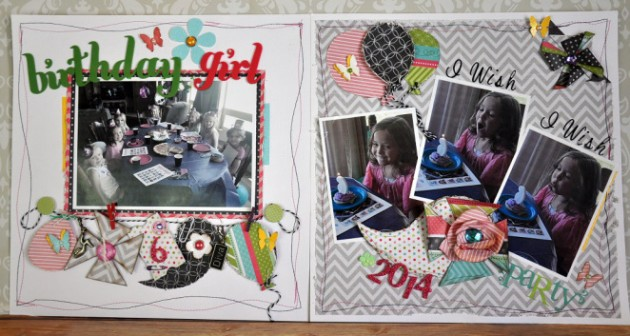 Birthday Girl 2-page layout using celebrate and tiny celebrate