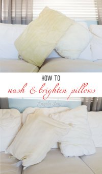 How to Wash and Brighten Pillows - Angela Says