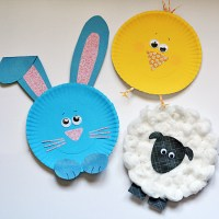 Paper Plate Easter Characters  Kix Cereal