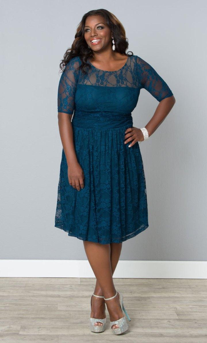Sweet Luna Lace Dress, Black (Womens Plus Size)
