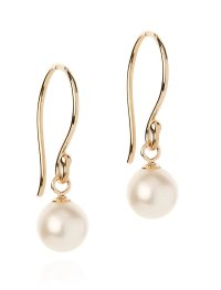 Gold Drop Pearl Earrings Long Drop Pearl Earrings Handmade ...
