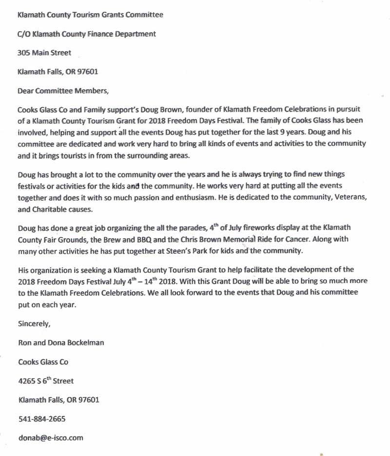 Letters of Endorsement - endorsement letters