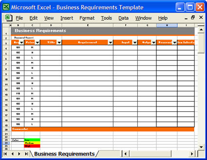 Business Requirements Templates (MS Word, Excel  Visio)