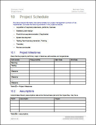 Business Case Templates (MS Word) Templates, Forms, Checklists for - Business Case Examples Free