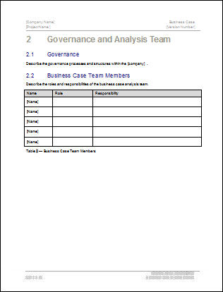 Business Case Template \u2013 22 pages MS Word with Free Sample Materials - Business Case Templates Free