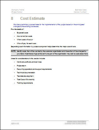 Business Case Template \u2013 22 pages MS Word with Free Sample Materials