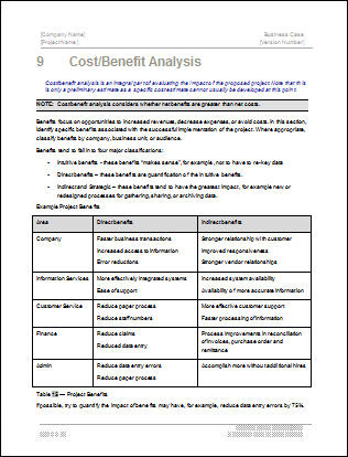 business case template word - Onwebioinnovate