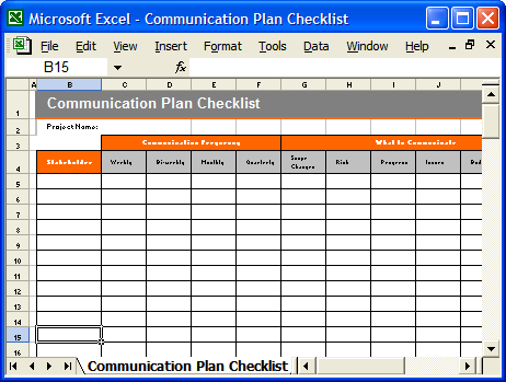 Stakeholder Requirements Template – Sample Project Checklist Template