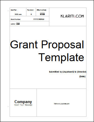 grant proposal cover letters