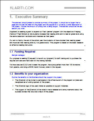 Grant Proposal Template Software Software Templates - funding proposal template