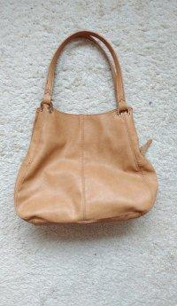 Beige camel farbene groe Handtasche C&A Damen ...