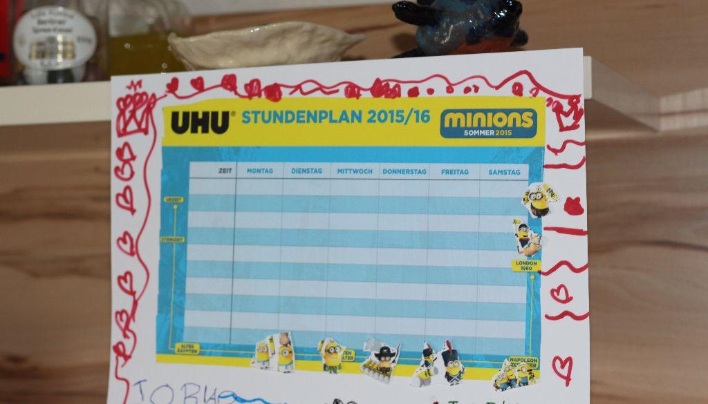 UHU + Minions + Fräulein Prinzessin = Überraschung für den Räuber
