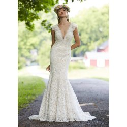 Small Crop Of Fit And Flare Wedding Dress
