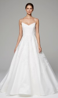 Spaghetti Strap A-line V-neck Wedding Dress | Kleinfeld Bridal