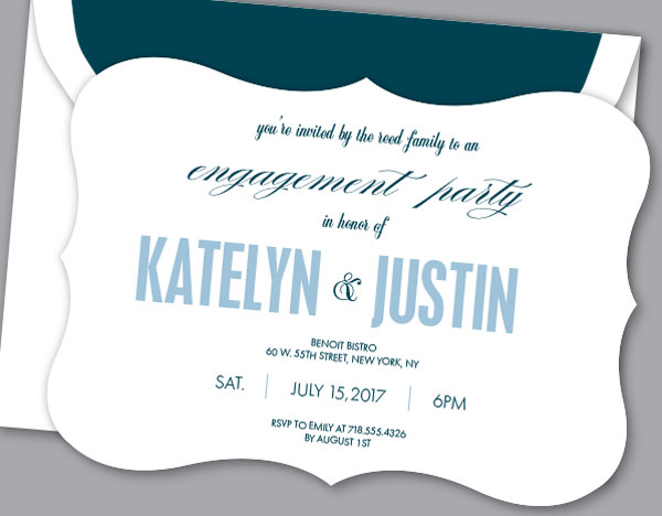 Let the Celebrations Begin! Engagement Party Invitations - how to word engagement party invitations
