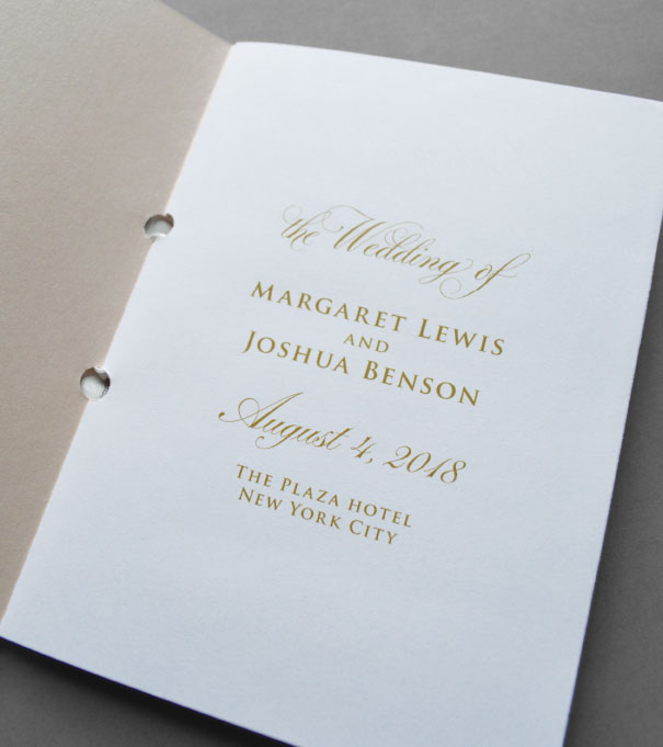 5 Ideas for Wedding Program Booklets