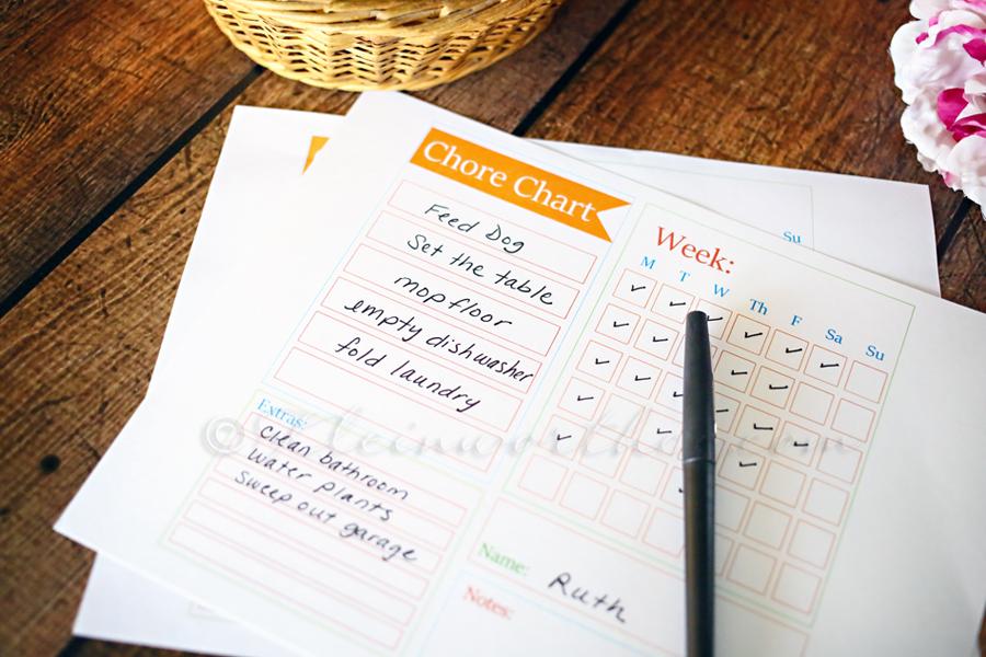 Chore Chart Checklist Template - Kleinworth  Co
