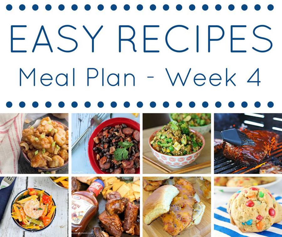 The Easy Dinner Recipes Meal Plan - Week 4 - Kleinworth  Co - weekly dinner meal plans