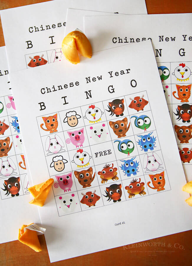 Chinese New Year Bingo Printable + $500 Giveaway - Kleinworth  Co