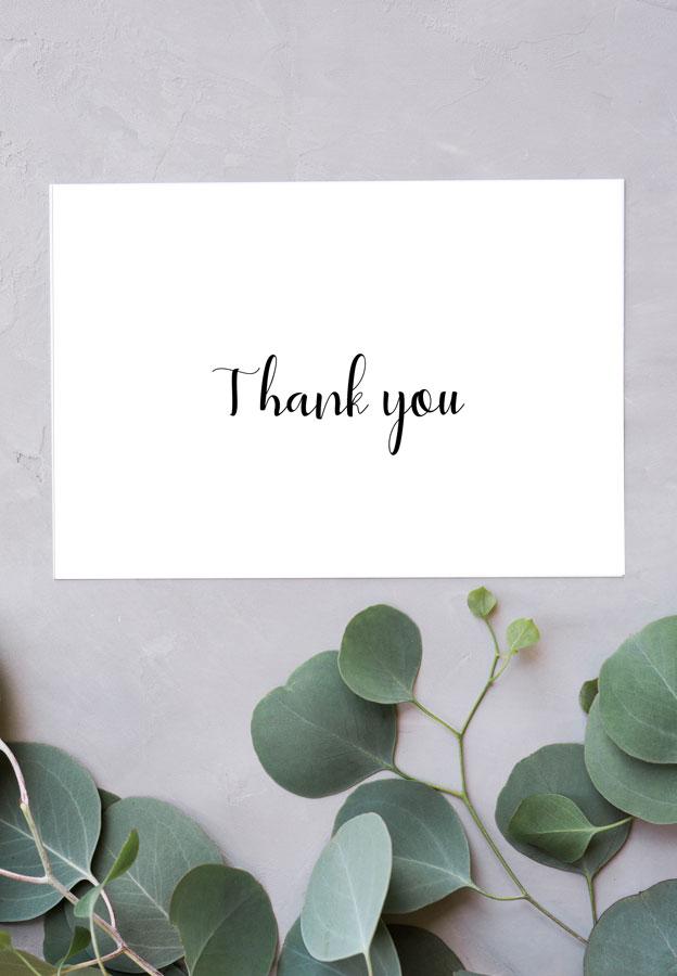 Black  White Thank You Cards - Free Printable - Kleinworth  Co - printable thank you cards black and white