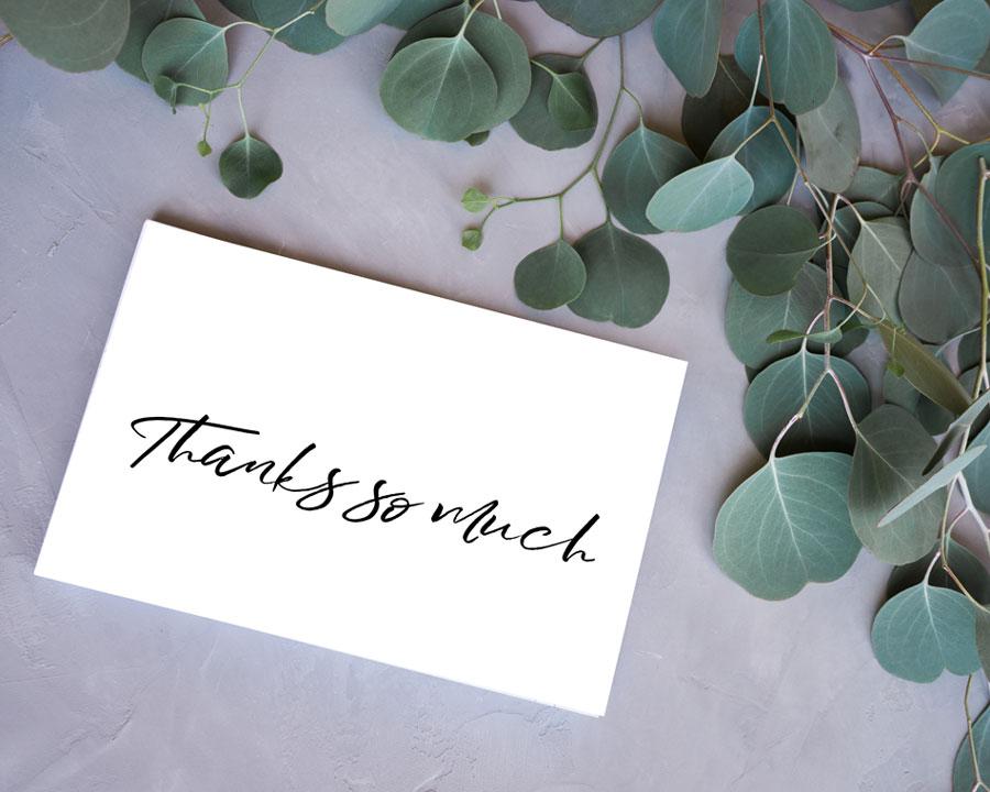 Black  White Thank You Cards - Free Printable - Kleinworth  Co