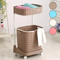laundry basket, 2-tier laundry basket, laundry basket on ...