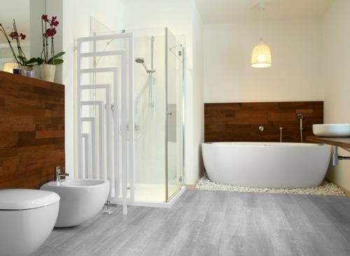 Schön Räume Moderne Badezimmer Klick Vinyl Bodende #48 Quadratmeterpreis  Badezimmer