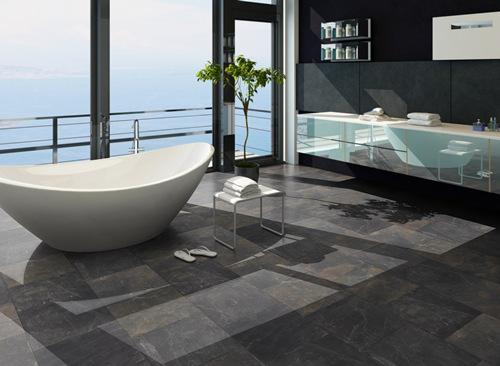 Räume - moderne Badezimmer - klick-vinyl-bodende - badezimmer bodenbelag