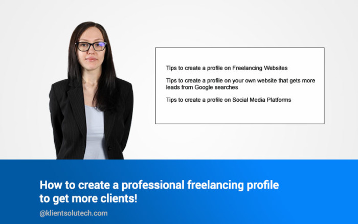 How to create a professional freelancing profile to get more clients