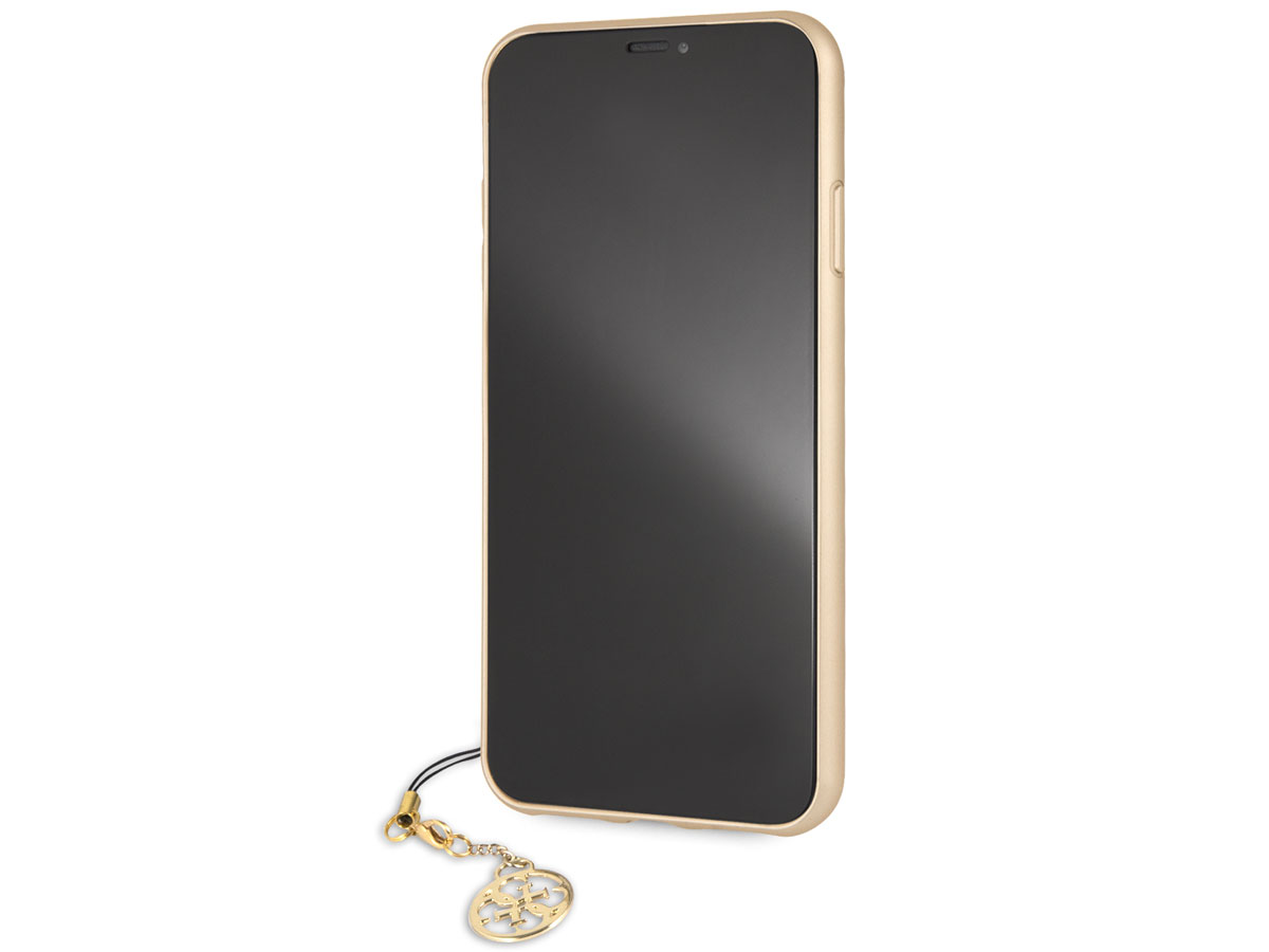 Guess Monogram Charm Case Bruin Iphone Xs Max Hoesje