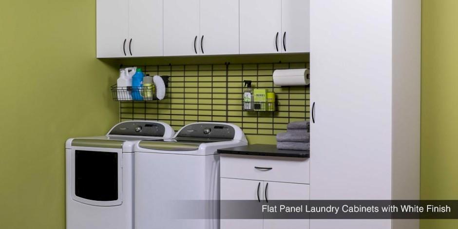 Custom Laundry Room Storage Shelves Cabinets