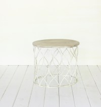 Small White Coffee Table- Vintage Rentals in Connecticut