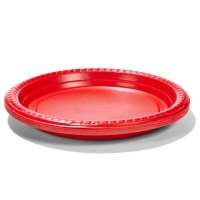 16 Pack Red Plastic Plates | Kmart